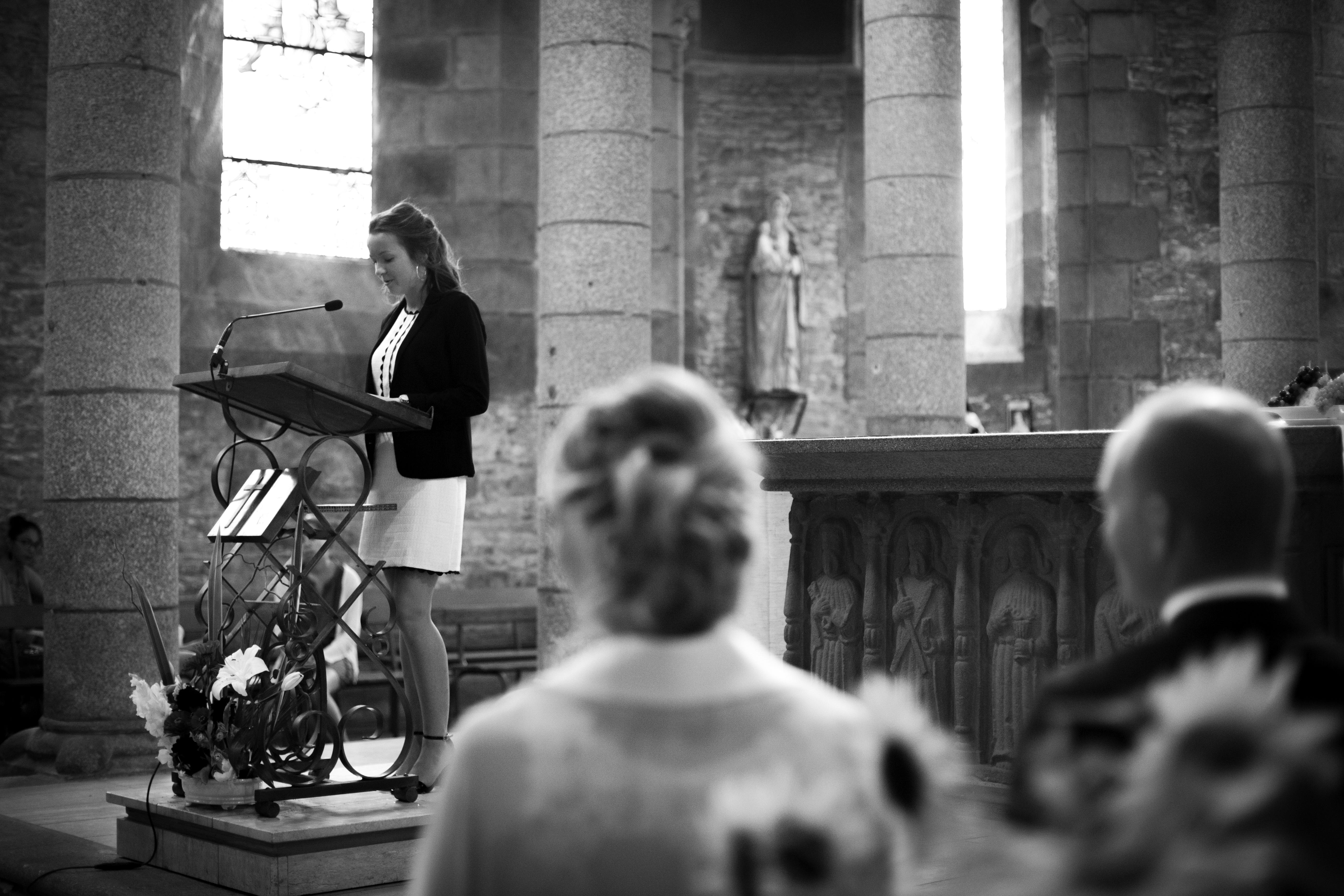 Discours d'une témoin lors d'un mariage religieux à Brest